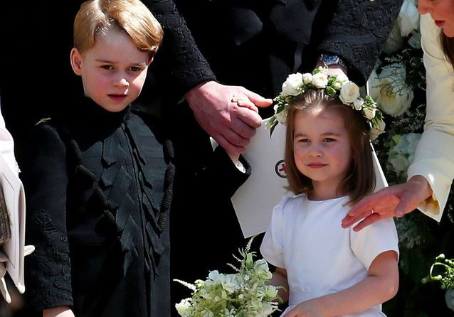 Le prince George et la princesse Charlotte enfants d'honneur : les photos qui vont nous faire fondre