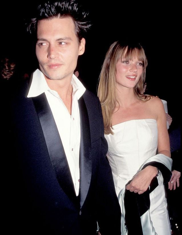 Avec Johnny Depp, à Los Angeles, en avril 1995.