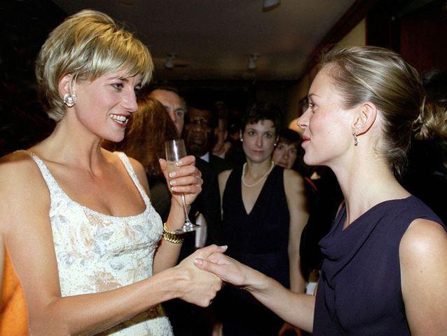 Avec Lady Di, chez Christies, à New York, en juin 1997.