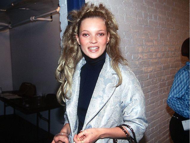 Dans les coulisses du défilé Todd Oldhamshow, à New York, en mars 1996.