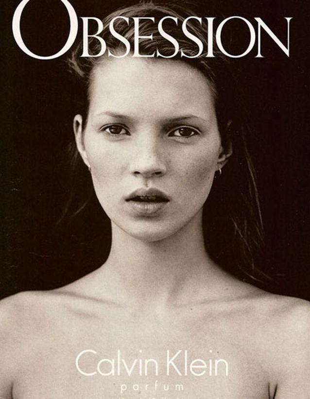 La campagne de pub pour Obsession de Calvin Klein, 1993.