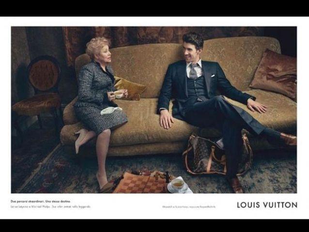 Michael Phelps pose pour Louis Vuitton