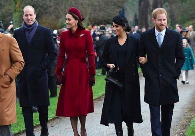 Kate Middleton et son mari le prince William réunis avec Meghan Markle et le prince Harry