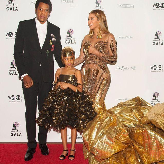 Jay Z, Blue Ivy et Beyoncé