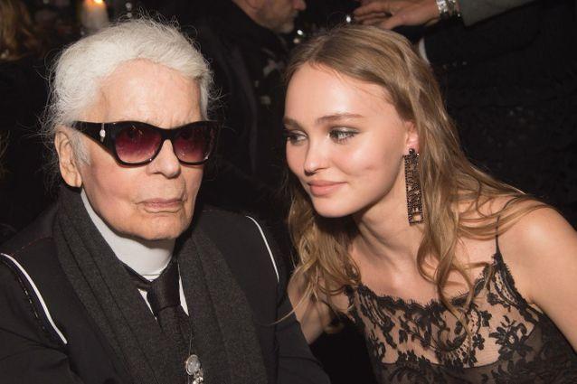 Son mentor dans le monde de la mode Karl Lagerfeld