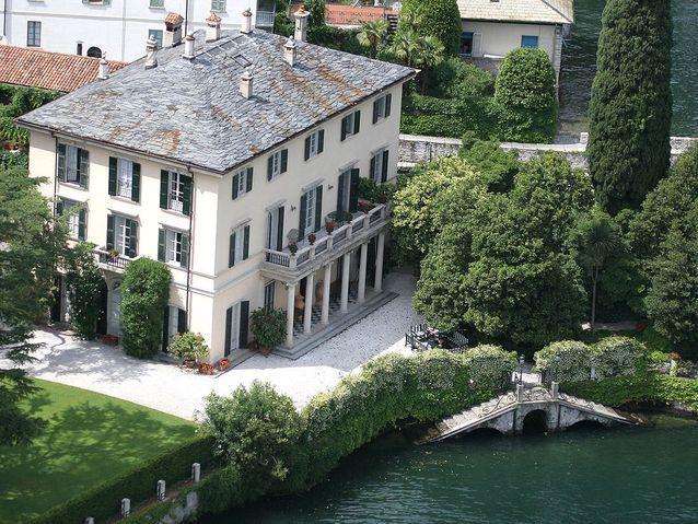 Une villa sur les bords du lac de Côme