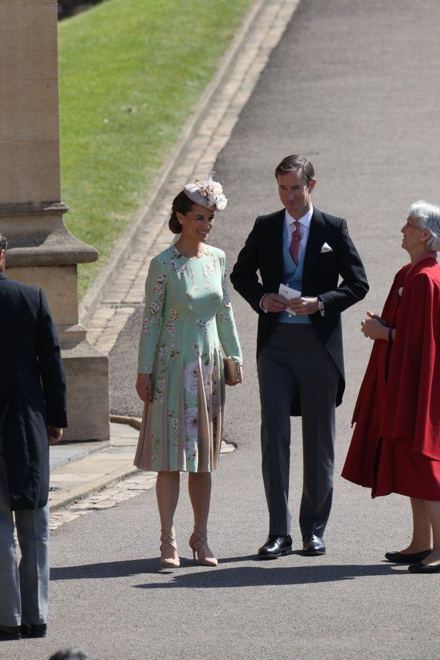 Pippa Middleton arrive au mariage du prince Harry et Meghan Markle
