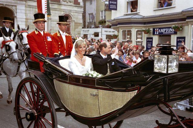 Arrivée du couple princier dans la chapelle St George