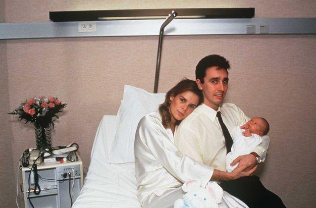 Stéphanie de Monaco, Daniel Ducruet et leur fils Louis, en 1992