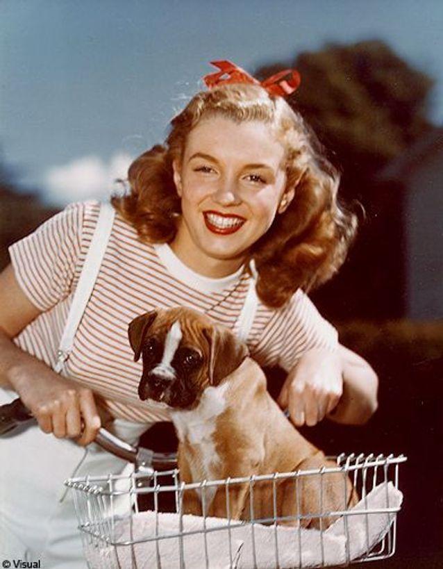 Une des premières photos de Marilyn Monroe