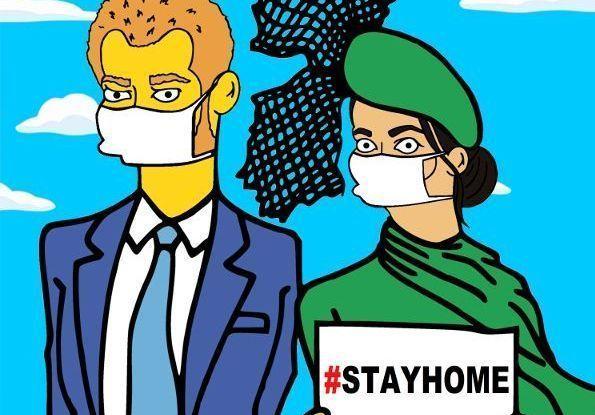 Meghan et Harry contre le coronavirus : les dessins façon Simpsons de cet artiste milanais