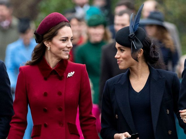 Meghan Markle et Kate Middleton en pleine discussion