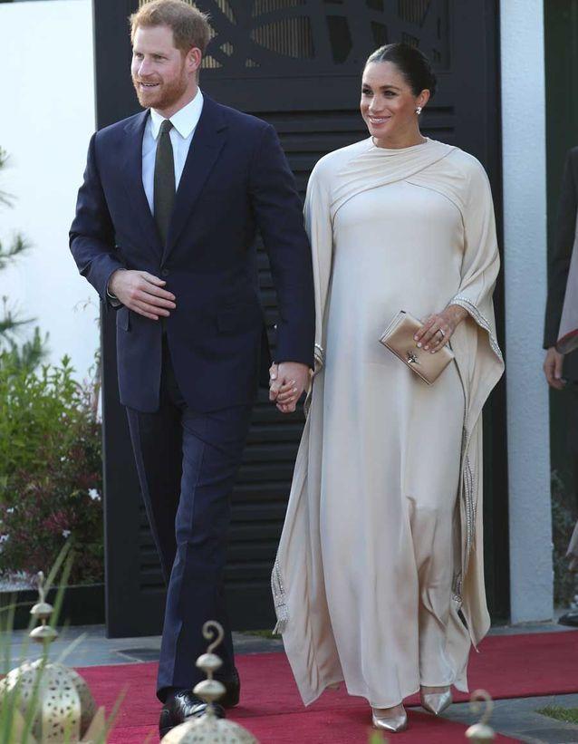 Arrivée de Meghan et Harry chez l'ambassadeur britannique