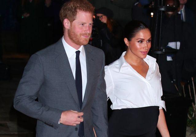 Meghan Markle, très enceinte au bras du prince Harry pour une soirée spéciale
