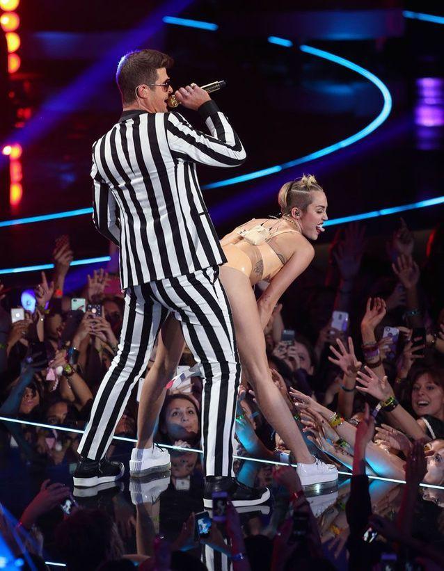 Robin Thicke et Miley Cyrus en 2013