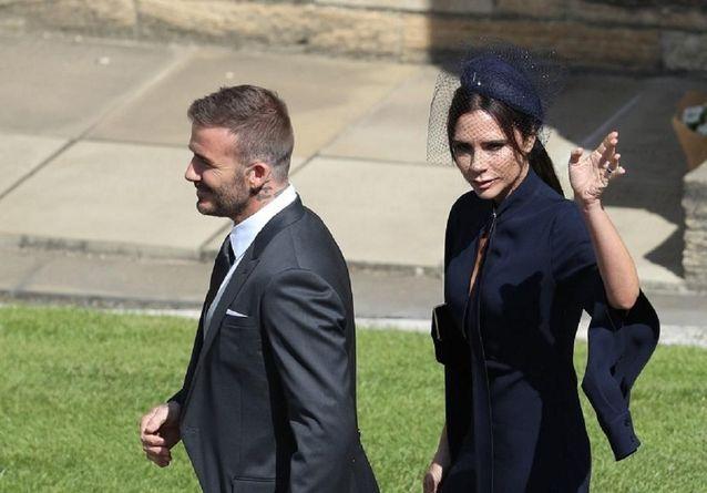 Photos : Victoria et David Beckham, amoureux et souriants au mariage du prince Harry et Meghan