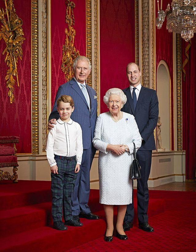 La photo officielle de la reine et ses descendants