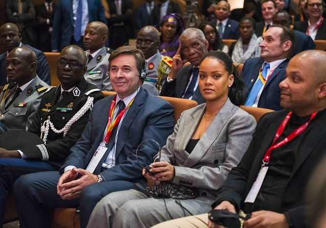 Rihanna à la conférence Global Partnership for Education