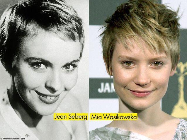 Jean Seberg et Mia Wasikowska