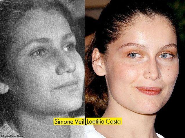 Simone Veil et Laetitia Casta