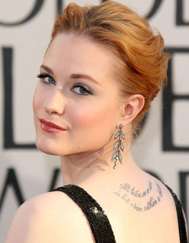 Le tatouage d'Evan Rachel Wood