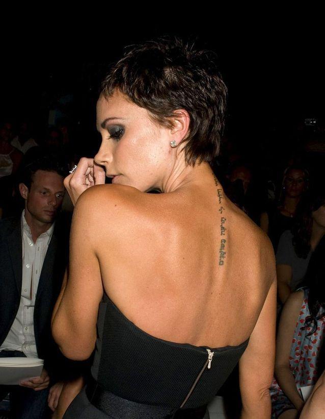 Le tatouage de Victoria Beckham