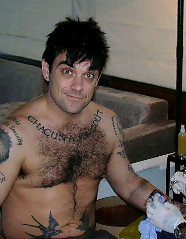 Les tatouages de Robbie Williams
