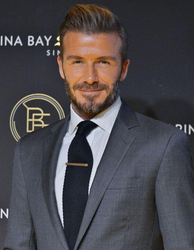 David Beckham transformation after