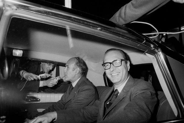 Jacques Chirac et Valéry Giscard d'Estaing en 1975