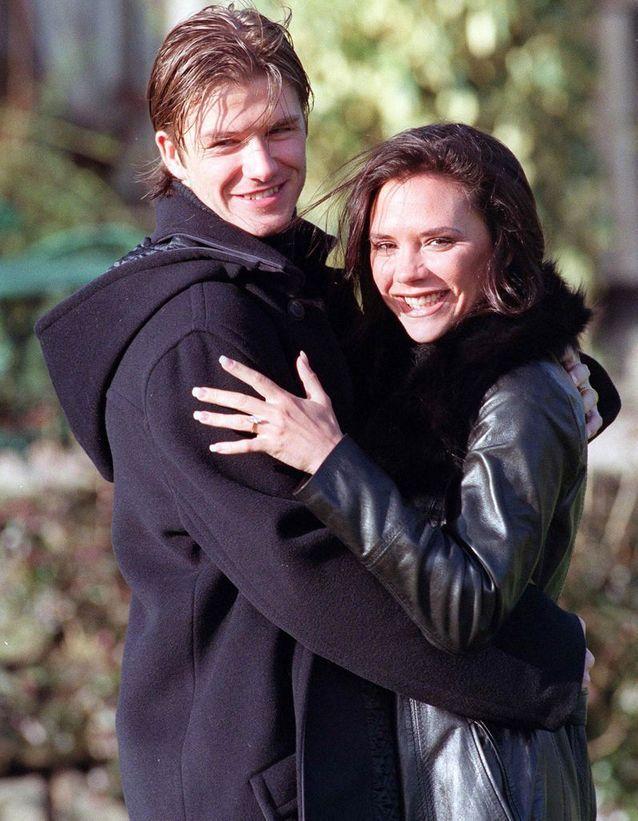 Ses fiançailles avec David Beckham
