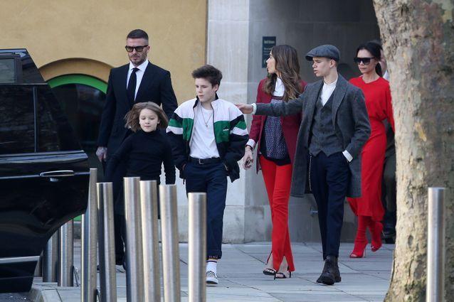 La famille en route pour le défilé