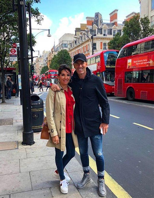 Zizou et sa femme à Londres