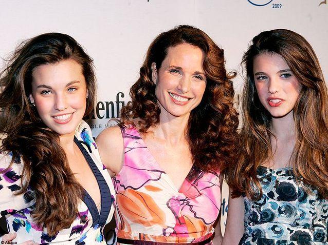 Rainey et Sarah Margaret, les filles d'Andie MacDowell