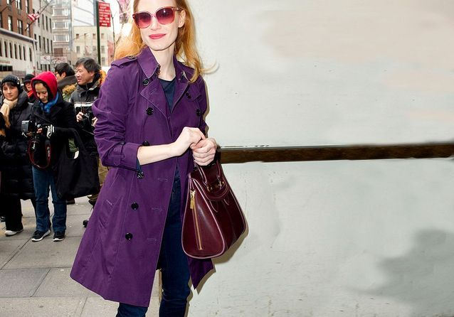 Fashion fixette : Jessica Chastain et ses sacs à main