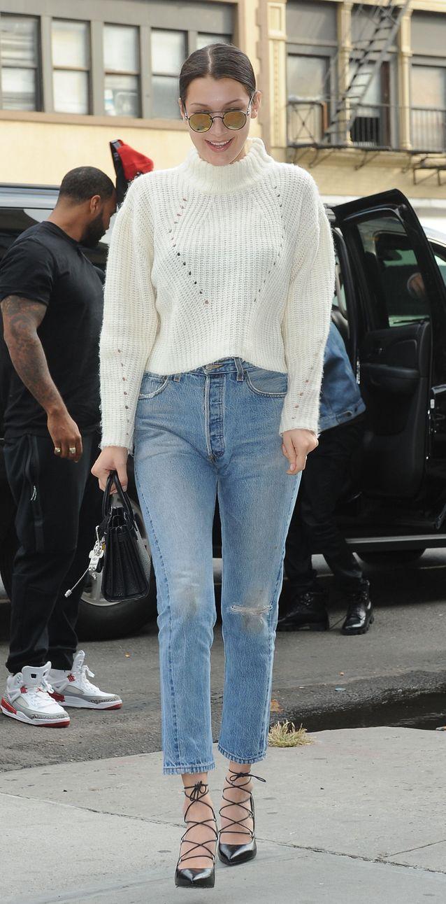 Bella Hadid en jean