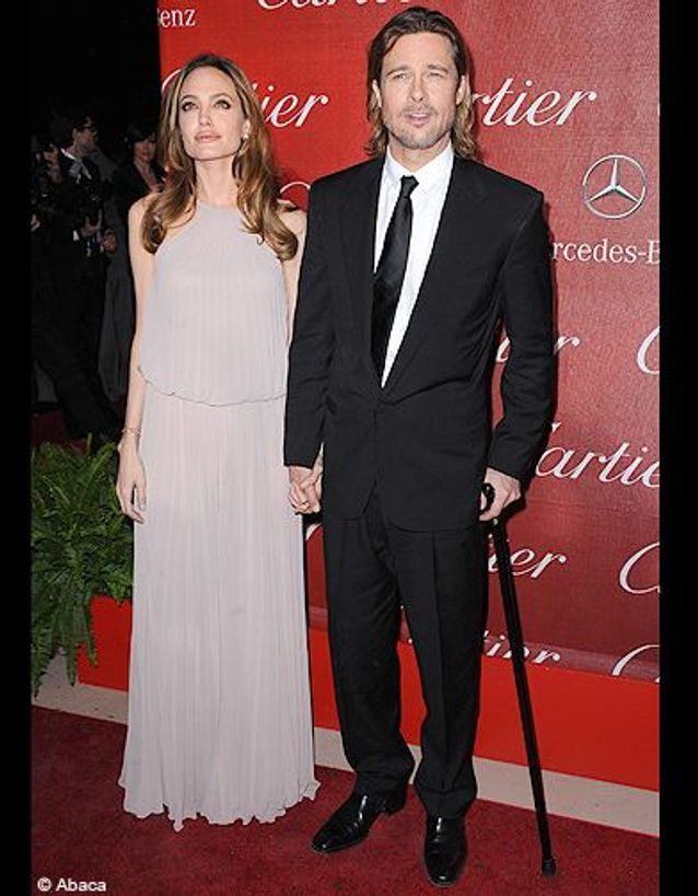 Brad Pitt et Angelina Jolie au Palm Spring Festival