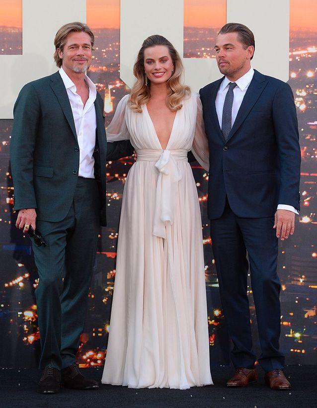 Brad Pitt, Margot Robbie et Leonardo DiCaprio