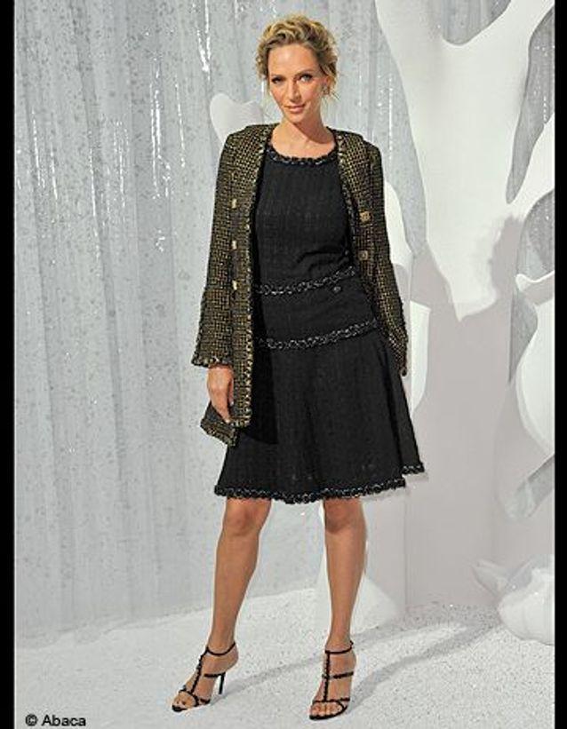 People tapis rouge defiles fashion week paris chanel Uma Thurman