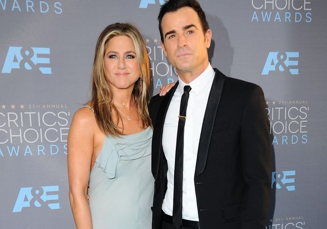 Jennifer Aniston et Justin Theroux, couple star des Critics' Choice Awards