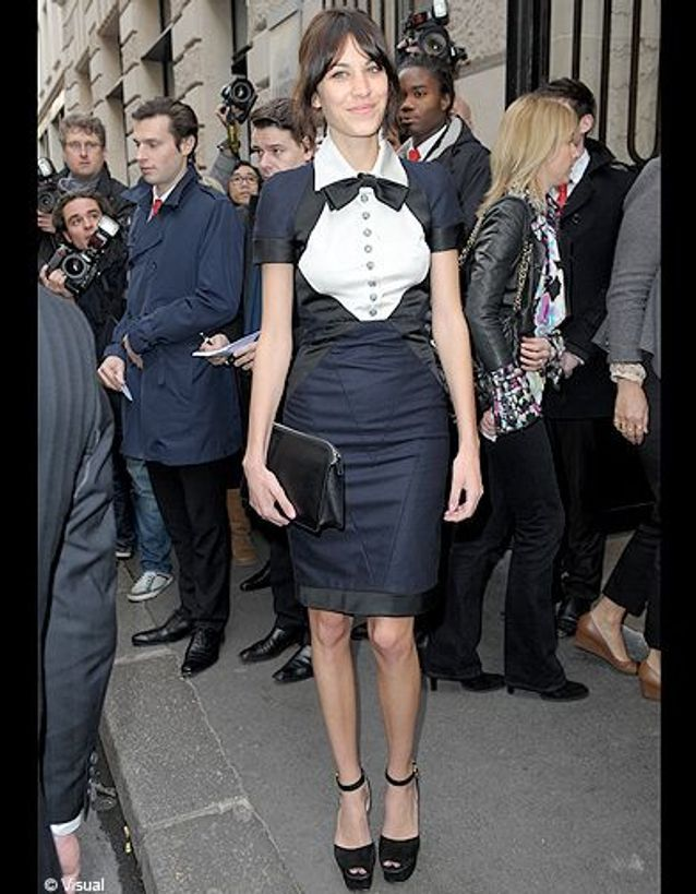 People tapis rouge defile haute couture chanel alexa chung