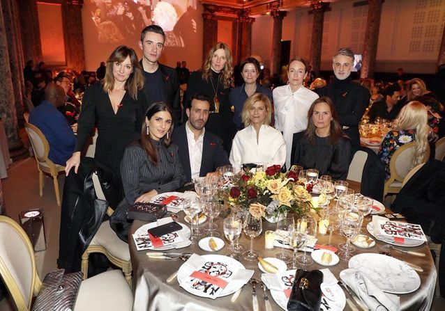 La table ELLE au dîner de la mode du Sidaction