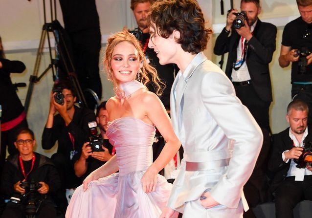 Lily-Rose Depp et Timothée Chalamet, duo chic et choc à la Mostra de Venise