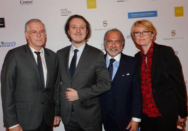 Richard Hutin, Martin Rey-Chirac, Olivier Dassault et Claude Chirac