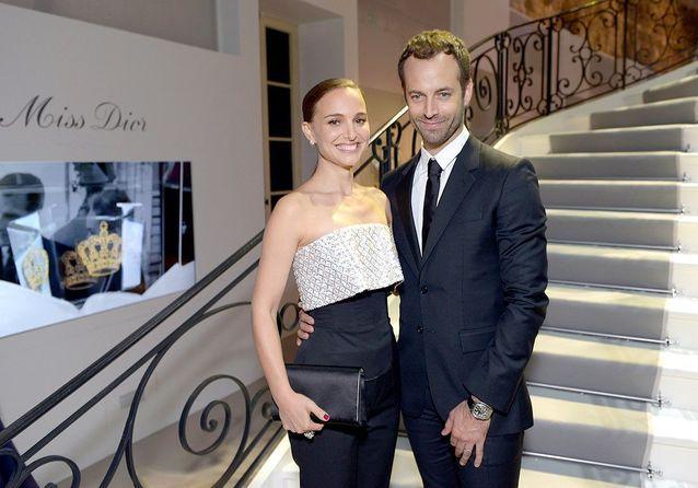 Natalie Portman et Benjamin Millepied, couple star à l'exposition Miss Dior