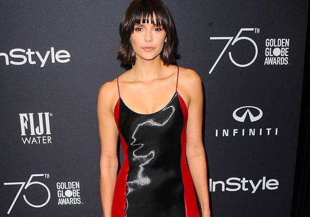 Nina Dobrev dévoile son nouveau look à la soirée des Golden Globe Ambassador