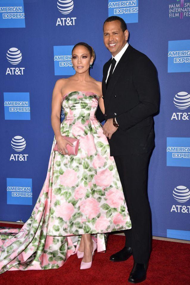 Jennifer Lopez et Alex Rodriguez lors du Palm Springs Film Festival