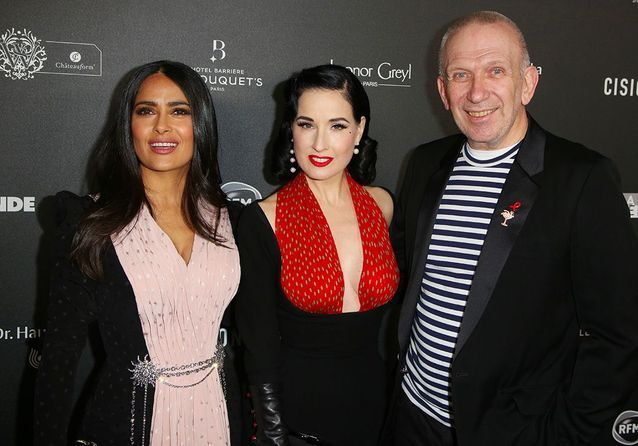 Salma Hayek, Alexandra Lamy, Jean Paul Gaultier : le tapis rouge VIP des Globes de Cristal