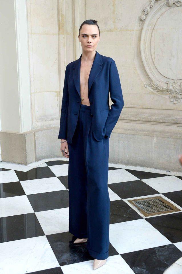 Cara Delevingne au défilé Dior