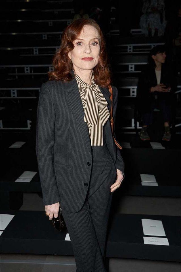 Isabelle Huppert au défilé Céline