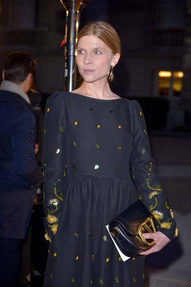 L'actrice Clémence Poésy au défilé Valentino